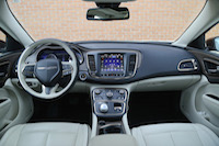 2015 chrysler 200c awd cabin white black
