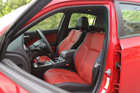 dodge charger leather red seats interior