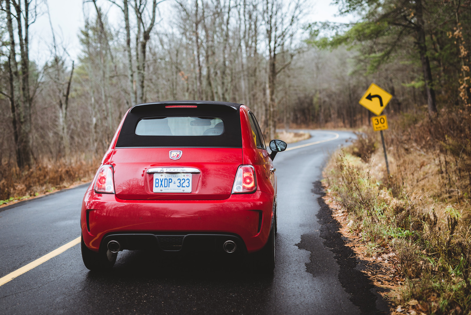 Review 2015 Fiat 500c Abarth Canadian Auto 500 Interior Red