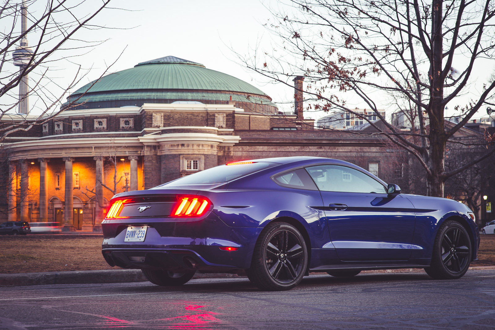 Ford mustang ecoboost blue ford mustang ecoboost performance package
