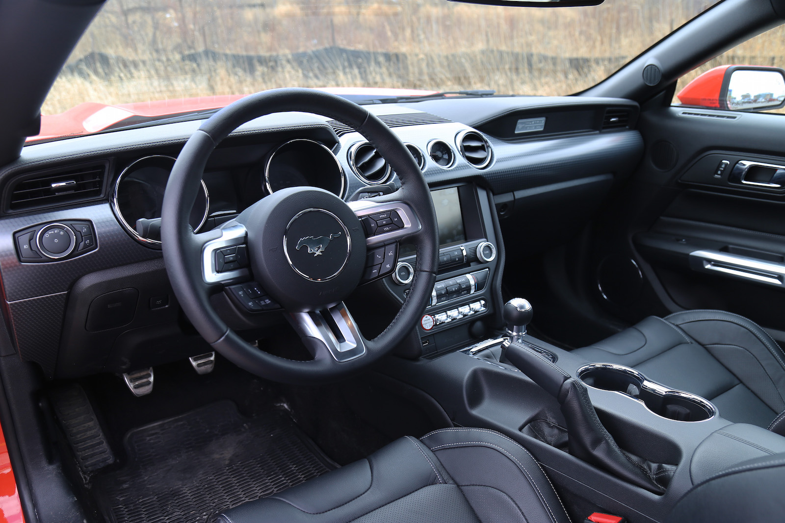 2015 ford mustang gt black leather interior