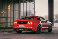 ford mustang gt 2015 orange rear