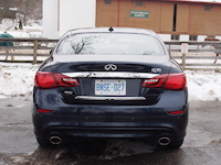 2015 Infiniti Q50 3.7 AWD Blue rear exhaust
