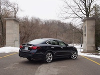 2015 Infiniti Q50 3.7 AWD Blue rear