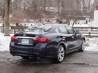 2015 Infiniti Q50 3.7 AWD Blue at park