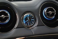jaguar xj phosphor blue analog clock