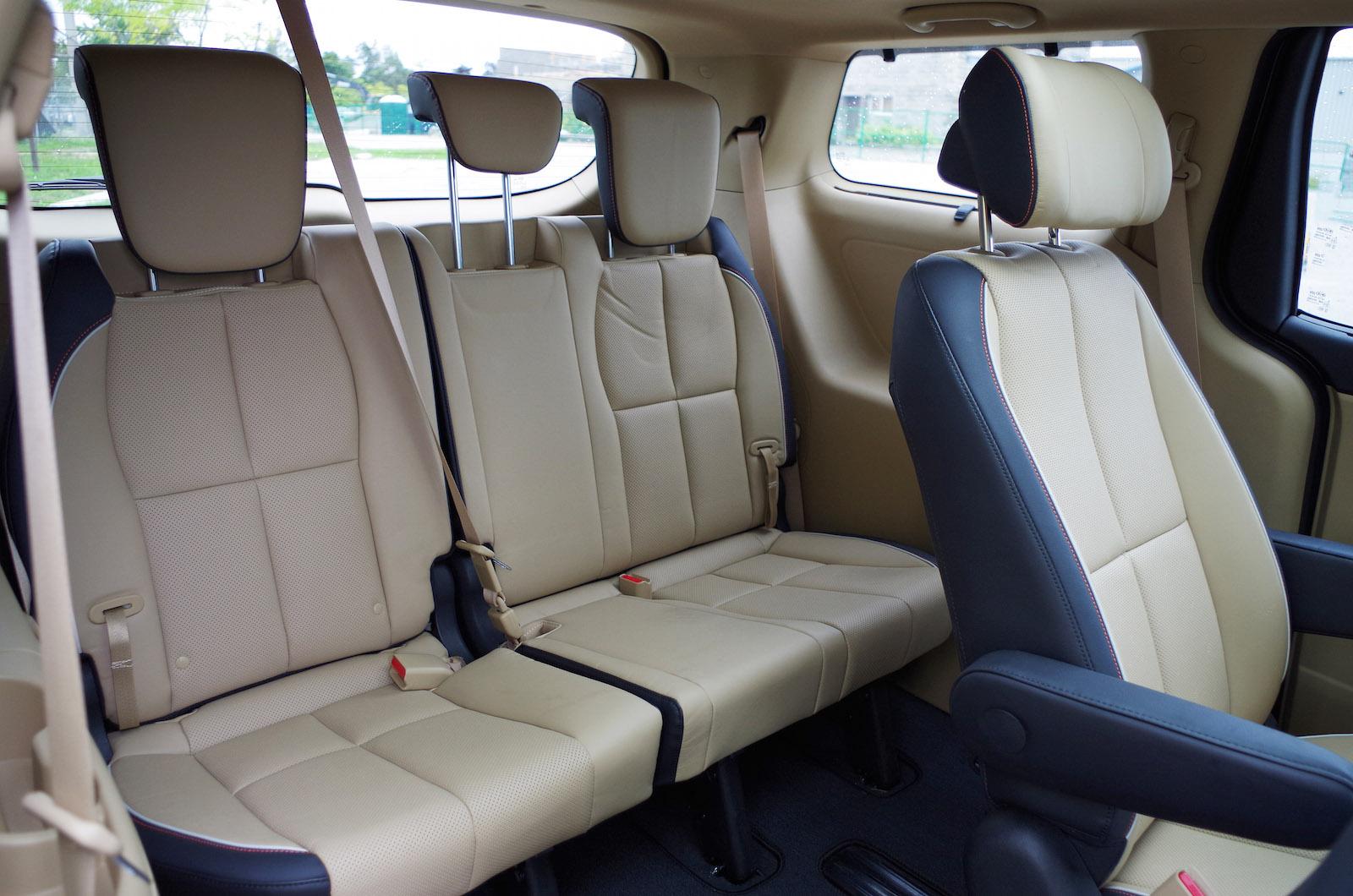 Review 2015 Kia Sedona Sxl Canadian Auto Sorento Captain Chairs Third Row Seats