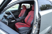 lexus nx200t red black interior