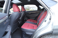 lexus nx200t rear seats
