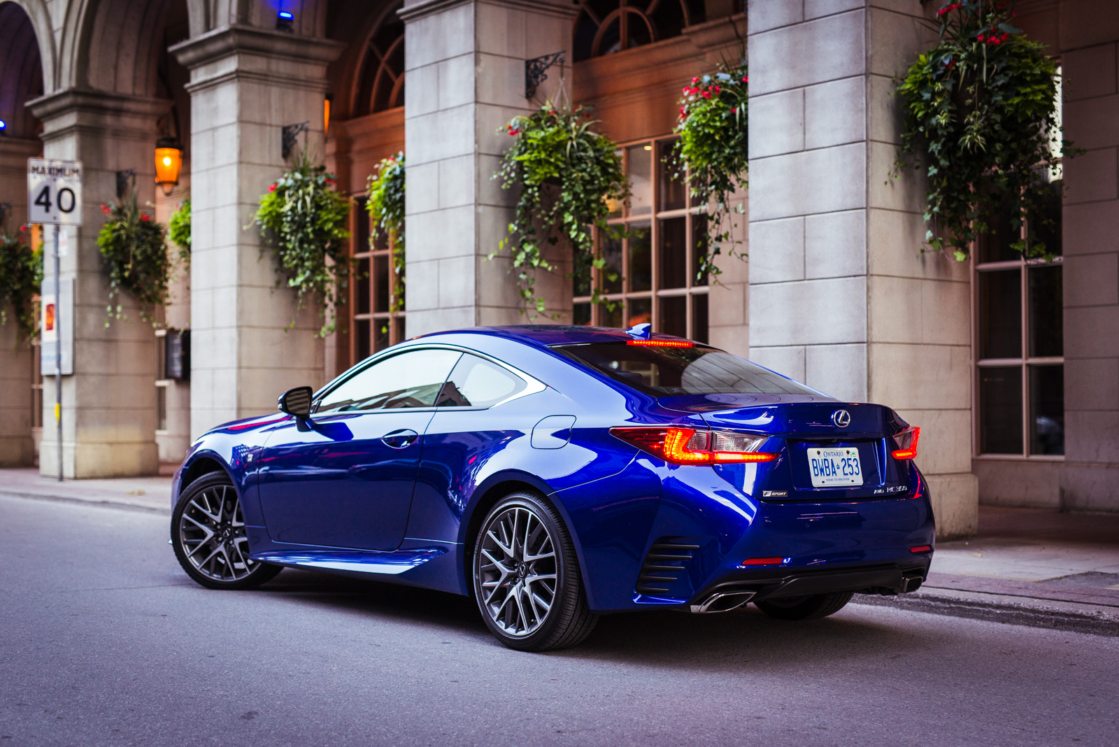 Lexus F Sport 2015 Lexus Rc350 Driving Downtown Toronto 2015 Lexus Rc350  Fsport Awd