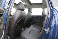 mini cooper s rear seats and panoramic roof
