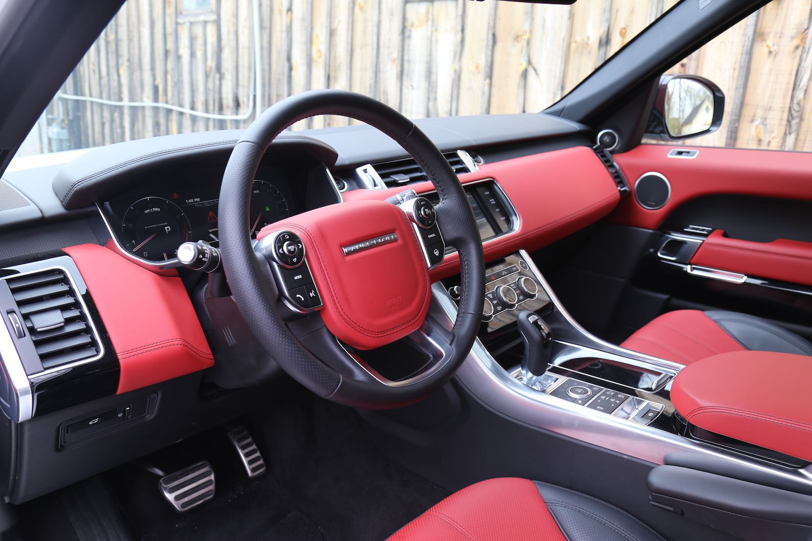 Review 2015 range rover sport canadian auto review - Range rover with red leather interior ...
