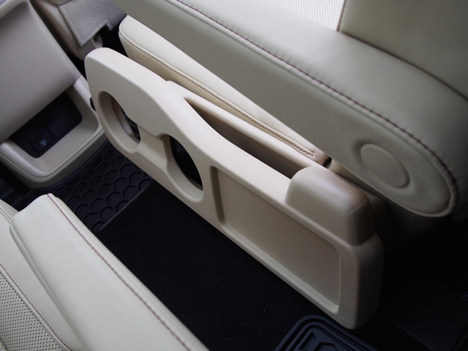 toyota highlander hybrid rear seat captain chair cup holder