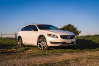 volvo v60 cross country sunset