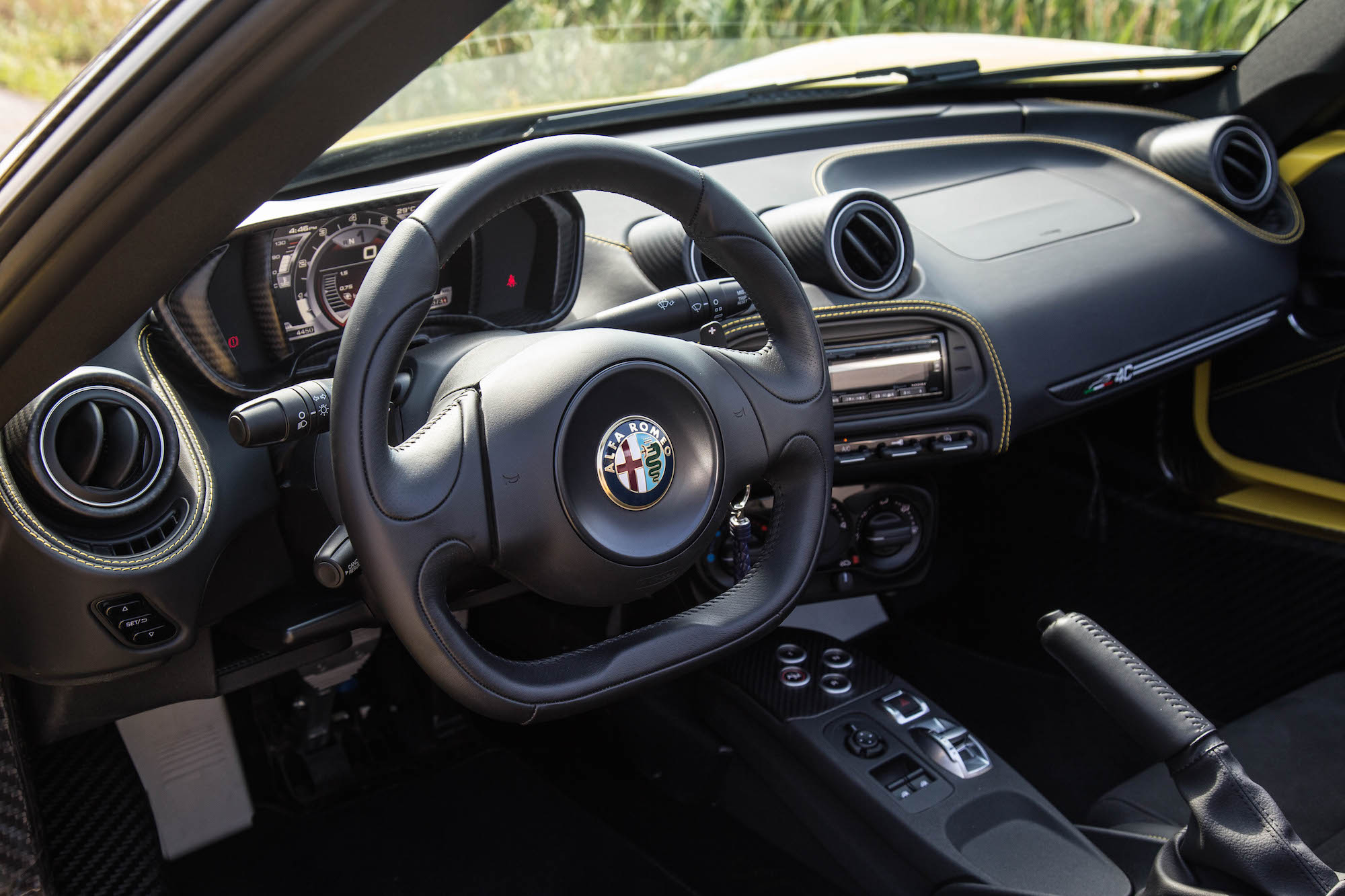 ... 2016 Alfa Romeo 4C Spider Black Interior ...