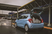 chevrolet spark luggage