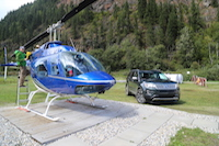 ford explorer platinum with helicopter