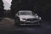 Infiniti Q50 Red Sport 400 AWD headlights led