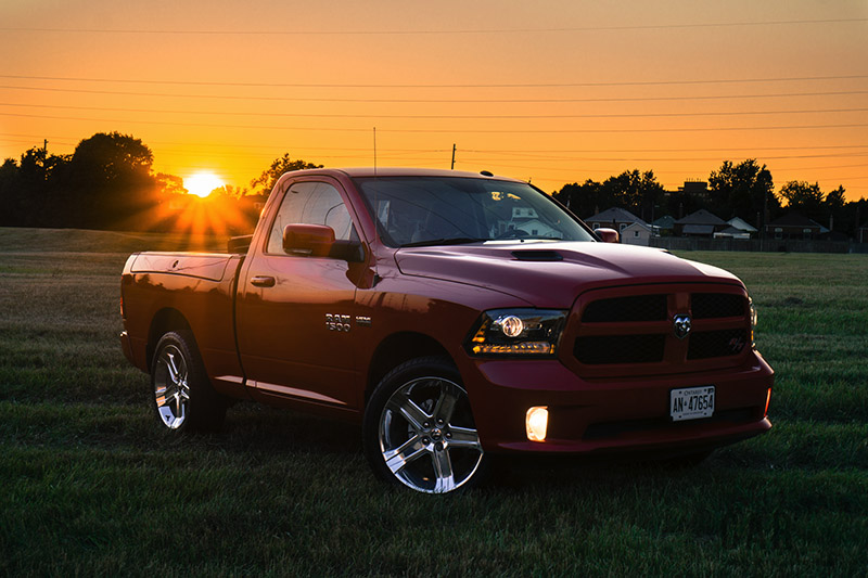 2016 RAM 1500 R/T Sport flame red review canada