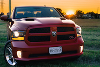 2016 RAM 1500 R/T front grill red