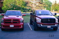 2016 RAM 1500 R/T new and old comparison