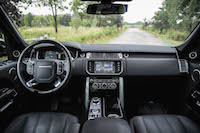 2016 Range Rover HSE Td6 dashboard black interior