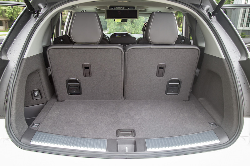 2017 Acura MDX Sport Hybrid trunk seats up