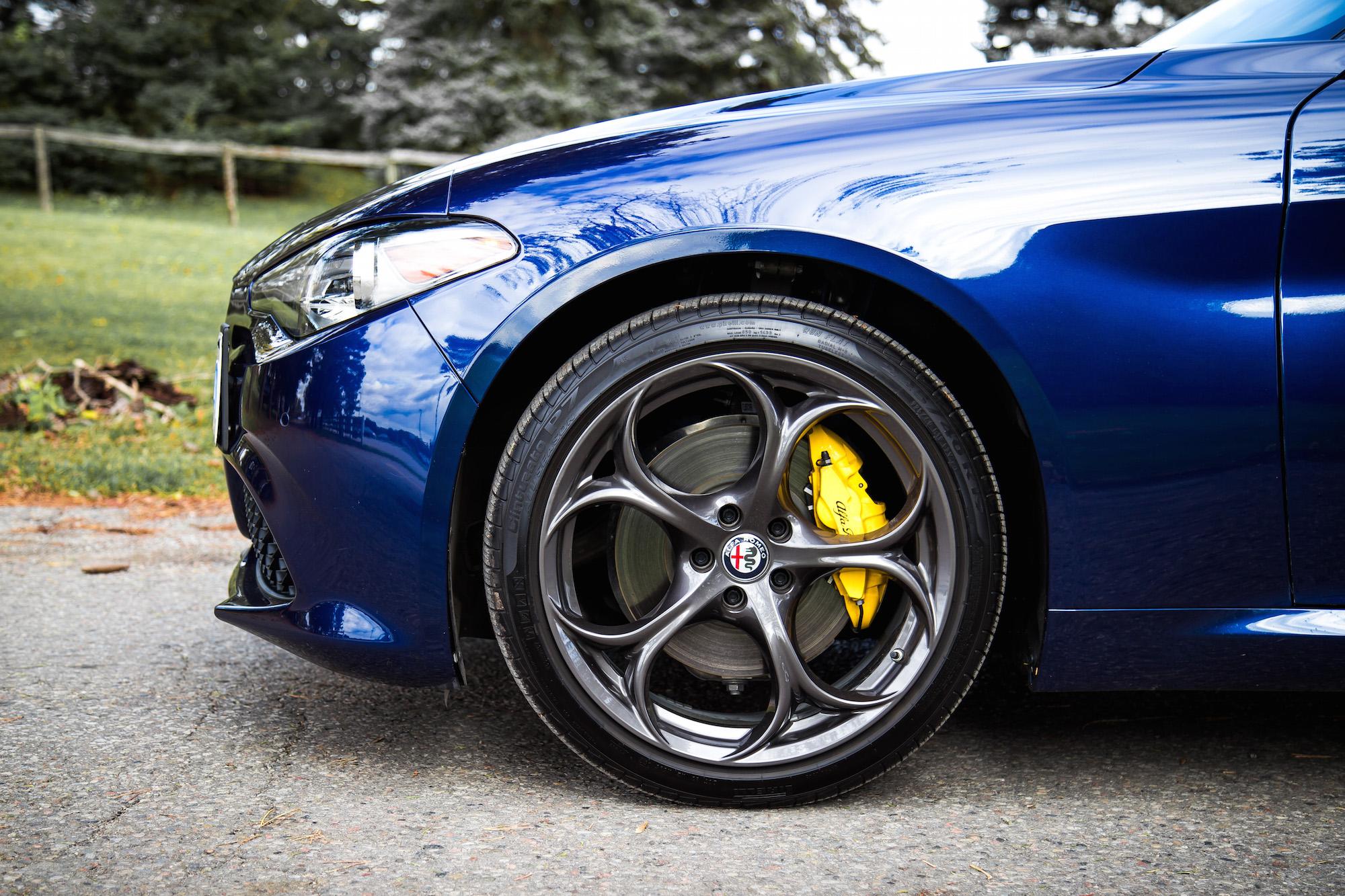 Review 2017 Alfa Romeo Giulia Ti Sport Canadian Auto Wheels 5 Ring 19 Inch Pirelli Tires
