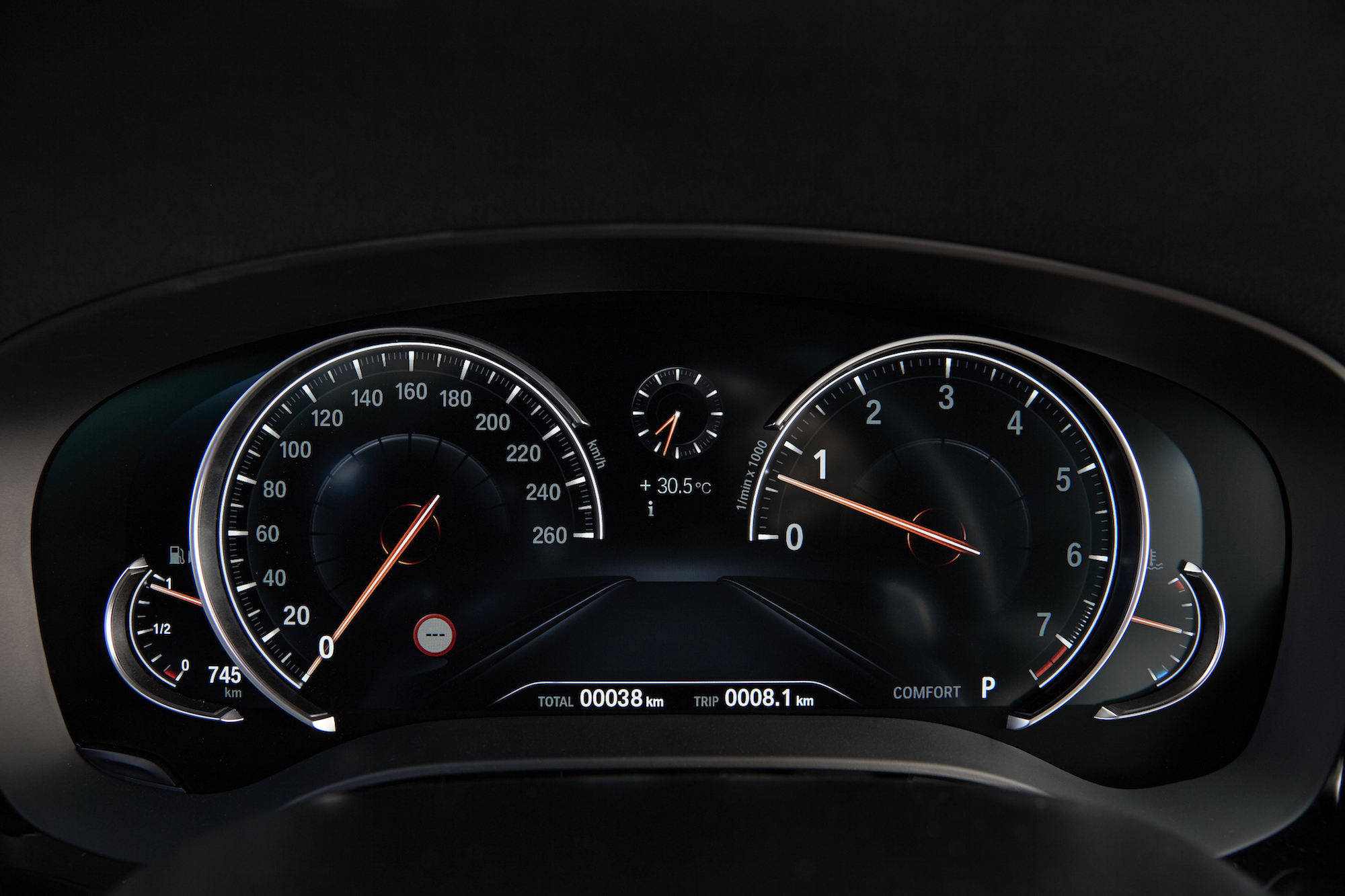 2017 BMW 540i XDrive Digital Gauges