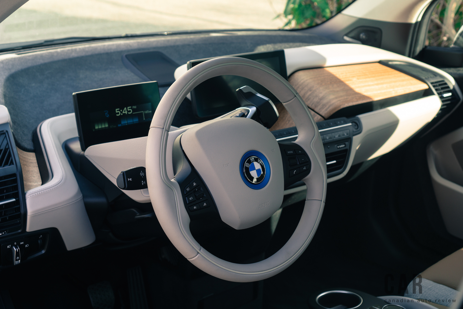 2017 BMW I3 White Interior Steering Wheel