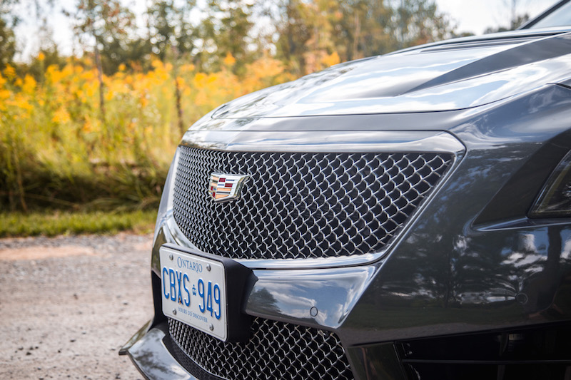 2017 Cadillac CTS-V front grill carbon black package