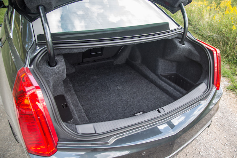 2017 Cadillac CTS-V trunk cargo space