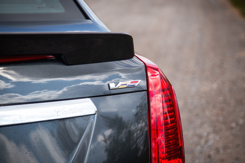 2017 Cadillac CTS-V v-series badge rear trunklid