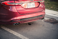2017 Ford Fusion V6 Sport quad exhausts