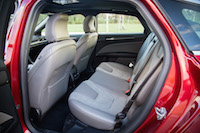 2017 Ford Fusion V6 Sport rear seats