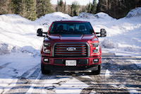 2017 Ford F-150 Lariat red front view