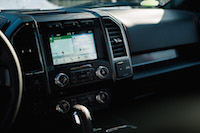2017 Ford F-150 Lariat sync3 display