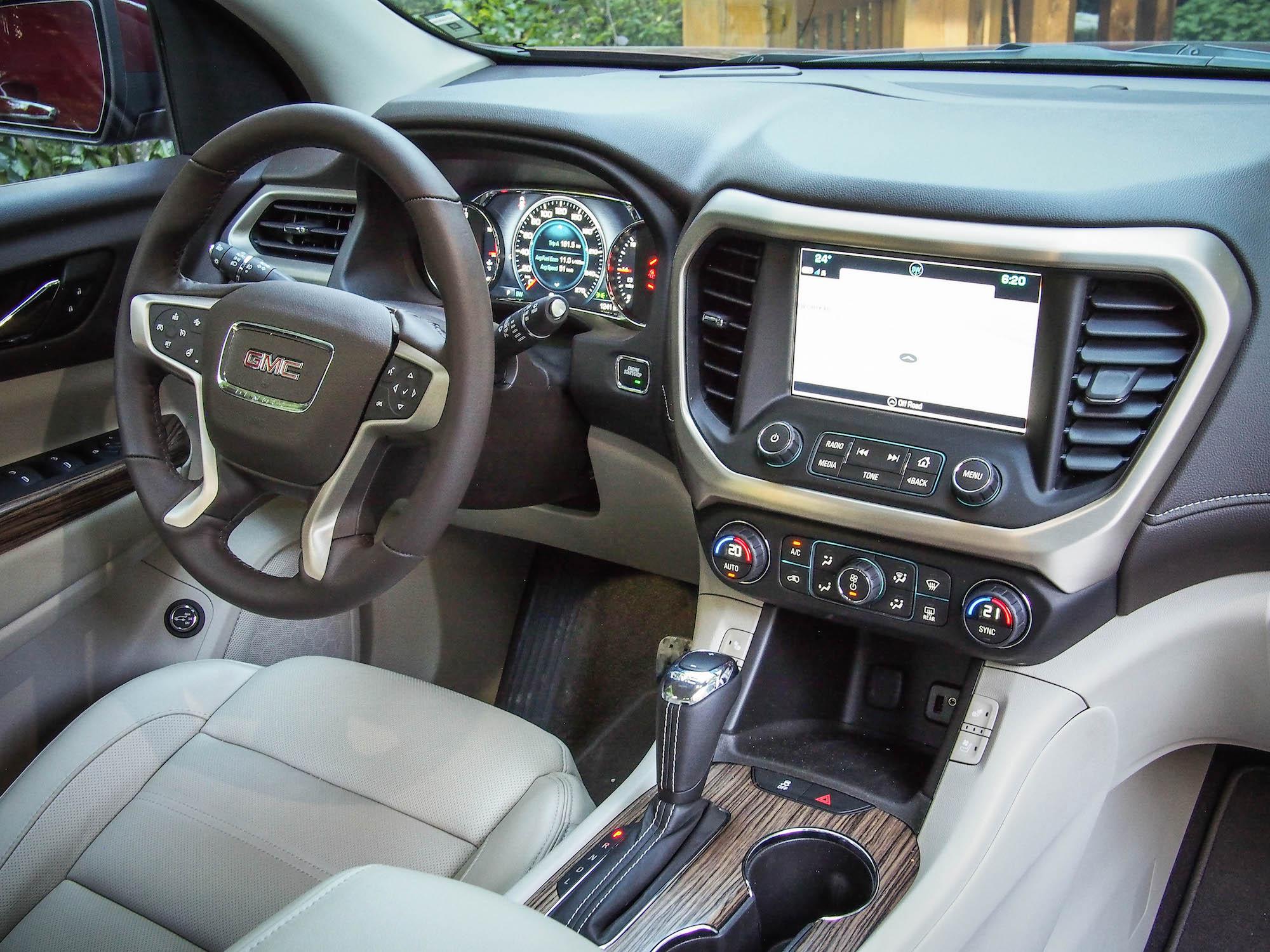 2017 gmc acadia canadian auto review for Gmc acadia denali 2017 interior