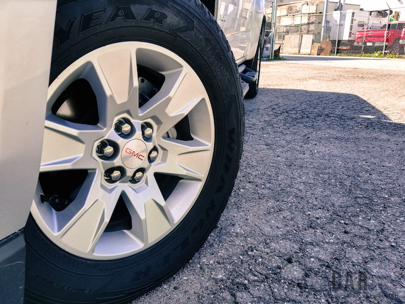 2017 GMC Canyon wheels