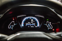 Honda Civic Hatchback LX Manual gauges