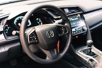 2017 Honda Civic Hatchback interior steering wheel
