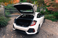 2017 Honda Civic Hatchback trunk open