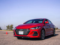 2017 Hyundai Elantra Sport red orange paint