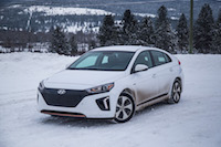 2017 Hyundai Ioniq Electric dirty in the snow