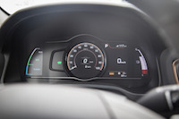 2017 Hyundai Ioniq Electric sport mode gauges