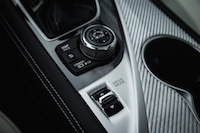 2017 Infiniti Q60 Red Sport AWD rotary dial mode selectors