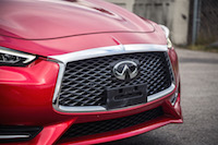 2017 Infiniti Q60 Red Sport AWD front grill