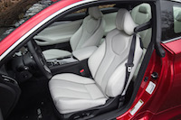 2017 Infiniti Q60 Red Sport AWD front leather white semi aniline seats