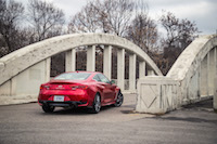 2017 Infiniti Q60 Red Sport AWD rear exclusive