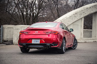 2017 Infiniti Q60 Red Sport AWD dual exhausts